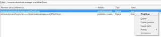 Deshabilitar busqueda de virus en Firefox