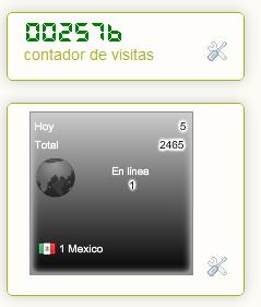 Pone Contador de visitas y países a tu blog