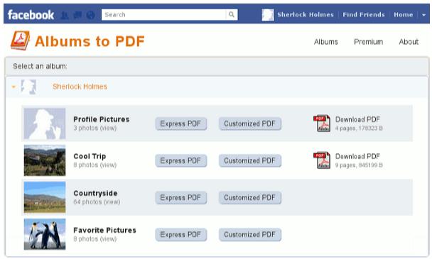 Facebook a PDF, guarda tus fotografías en PDF