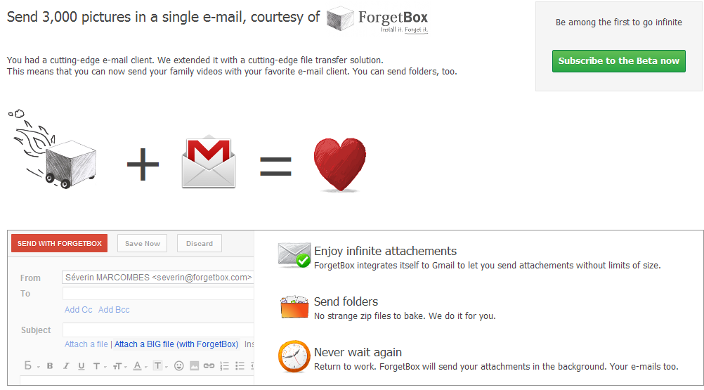 Envia ilimitado en Gmail
