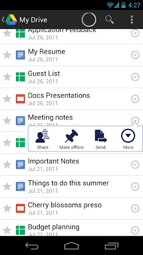 Llego Google Drive en Android