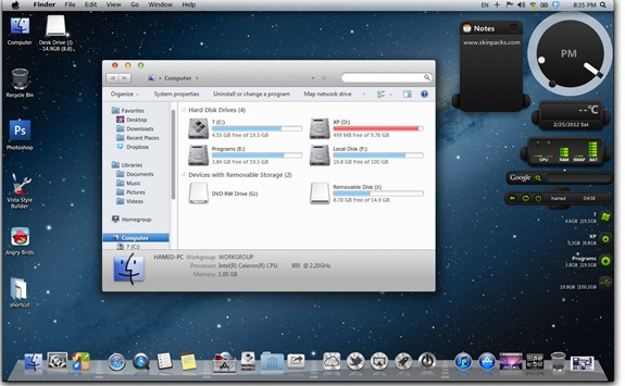 Transformar Windows 8 en Mac OSX