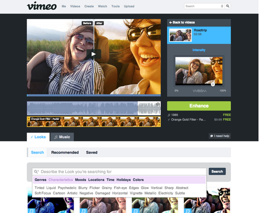 Vimeo agrega nuevo filtros para la edición de videos